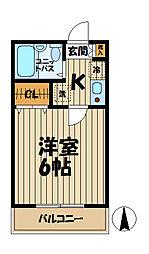 ドルフィン山崎A[2階]の間取り