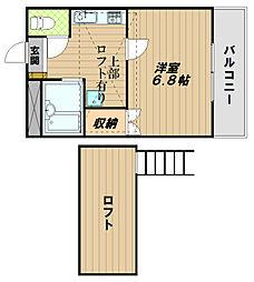 グリーンハイツ王塚台[1階]の間取り