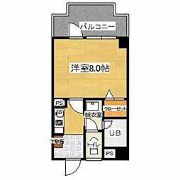 福岡県福岡市西区今宿駅前1丁目の賃貸マンションの間取り