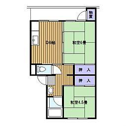 神奈川県横浜市緑区竹山3丁目の賃貸マンションの間取り