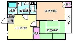 ファミールユキ[3階]の間取り
