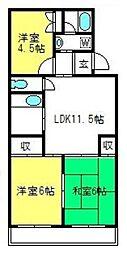 メゾン・松本[203号室]の間取り