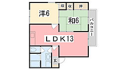 サンパティック御立 B棟[1階]の間取り