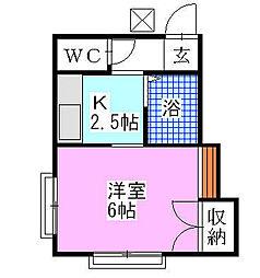 シャルム西船[2階]の間取り
