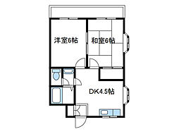 神奈川県座間市栗原中央3丁目の賃貸マンションの間取り
