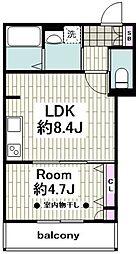 Laurel First(ローレル ファースト) 4階1LDKの間取り