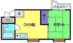 兵庫県神戸市灘区都通5丁目の賃貸マンションの間取り