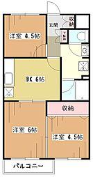 ロイヤル美住町[1階]の間取り