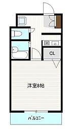 プレスト箱崎ステーション[305号室]の間取り