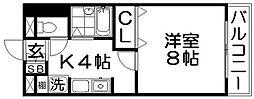 レコルト香里[3階]の間取り
