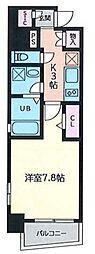 福岡市地下鉄空港線 博多駅 徒歩10分の賃貸マンション 2階1Kの間取り