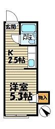 ジュネス鎌倉[202号室]の間取り