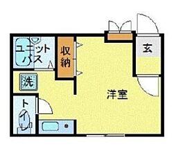 MODULOR武蔵野中町 3階ワンルームの間取り