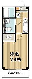 西武池袋線 秋津駅 徒歩2分の賃貸アパート 1階1Kの間取り