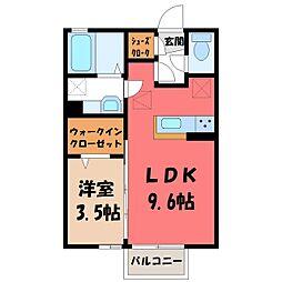 ラフィナス 1階1LDKの間取り