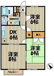 ローズハイム笛田[203号室]の間取り
