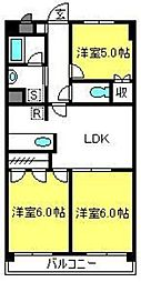 埼玉県さいたま市見沼区大字中川の賃貸マンションの間取り