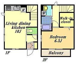 メゾンみのり[1階]の間取り