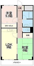 エクセル稲田[3階]の間取り