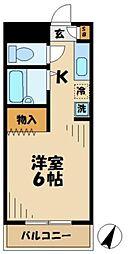 東京都多摩市永山6丁目の賃貸マンションの間取り