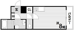 シンプルライフ腕塚[3階]の間取り