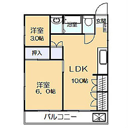 神奈川県川崎市多摩区登戸新町の賃貸マンションの間取り