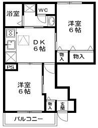 プロムナード弐番館[1階]の間取り