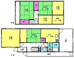 [一戸建] 兵庫県加古川市別府町新野辺 の賃貸【/】の間取り
