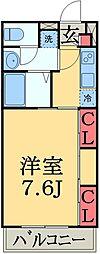 JR総武線 幕張本郷駅 徒歩13分の賃貸マンション 1階1Kの間取り