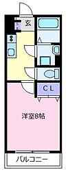 EXハイツ北新町[2階]の間取り