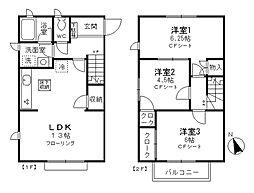 [テラスハウス] 東京都小金井市前原町1丁目 の賃貸【/】の間取り
