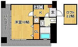 宝州博多第一ビル[14階]の間取り