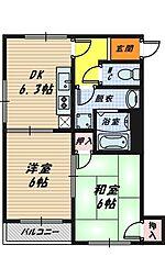 ドリームハイツ[2階]の間取り