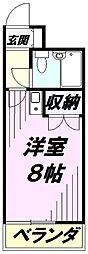 埼玉県所沢市美原町3丁目の賃貸マンションの間取り