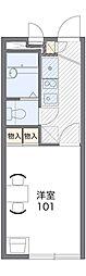 京王高尾線 狭間駅 徒歩26分の賃貸アパート 2階1Kの間取り