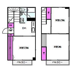 JR大阪環状線 京橋駅 徒歩7分の賃貸マンション 1階3DKの間取り