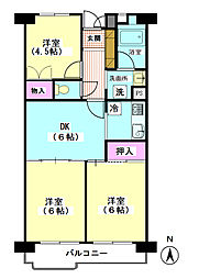 東京都大田区萩中2丁目の賃貸マンションの間取り