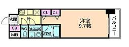 プレサンスNEO淀屋橋[8階]の間取り