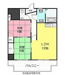 東マンション[3階]の間取り