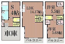[一戸建] 東京都大田区仲池上2丁目 の賃貸【/】の間取り