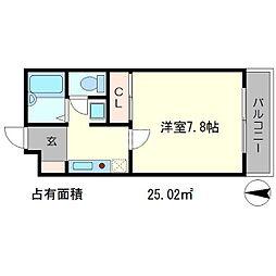 ラ・ヴィ松ヶ崎[1階]の間取り