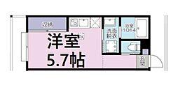 JR京浜東北・根岸線 大宮駅 徒歩11分の賃貸アパート 3階ワンルームの間取り