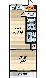 M'PLAZA城東弐番館[4階]の間取り