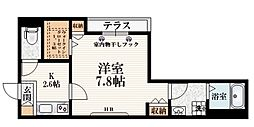 JR中央線 吉祥寺駅 徒歩12分の賃貸マンション 1階1Kの間取り