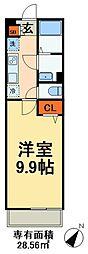 JR総武線 幕張本郷駅 徒歩15分の賃貸マンション 1階1Kの間取り