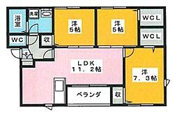 皿山3丁目アパート[102号室]の間取り