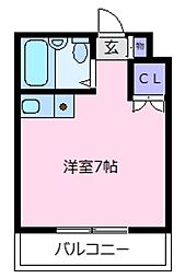 レジデンスヤマダ[4階]の間取り