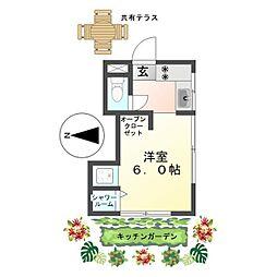 恵明荘 Herbal Apartment みんなで創るキッチンガーデン[1号室]の間取り