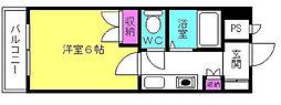 D−スクウェア加古川[2階]の間取り