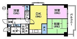 カメリヤマンション[8階]の間取り